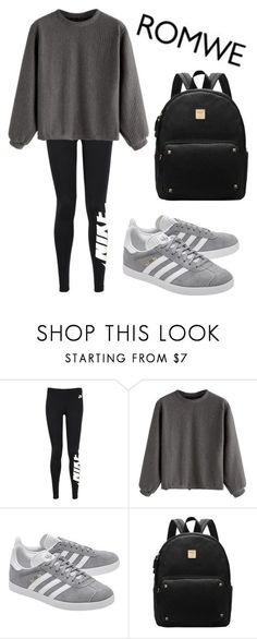 """""""Mall Day"""" by melanielexon ❤ liked on Polyvore featuring NIKE and adidas Originals"""