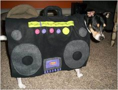 Turn up the boom box for Halloween, pooch! Halloween Costume Contest, Costume Ideas, Pet Dogs, Pets, Dog Costumes, Dog Mom, Your Dog, Dog Lovers, Boombox