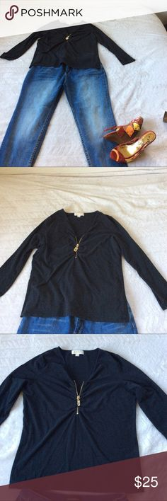 Michael Kors Top Plus Size Michael Kors Zipper Top. Zip it up or down, you can choose how sexy 💋you want to be. Size 1X MICHAEL Michael Kors Tops Tees - Long Sleeve