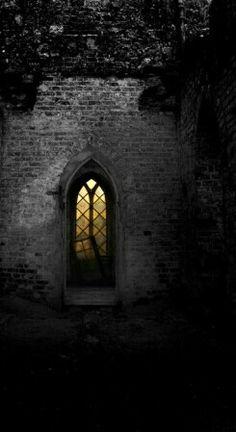 Lit window