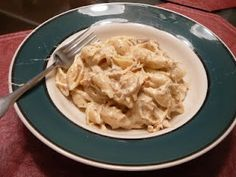 crockpot cream cheese chicken & pasta -- We had this for dinner the other night, so yummy and creamy.  I would maybe go lighter on the italian season next time.