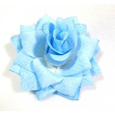 Sky Blue Rose Flower Hair Clip ($5.99) ❤ liked on Polyvore featuring accessories and hair accessories