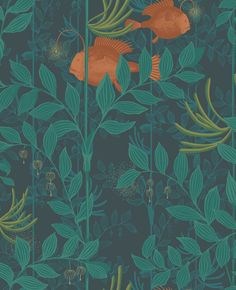 Nautilus Dark Green wallpaper by Cole & Son