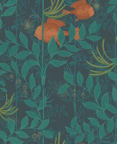 Nautilus Dark Green wallpaper by Cole & Son