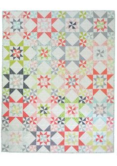 FAT QUARTER FRIENDLY Down South is a fat quarter friendly quilt pattern and would also look great in a two colour version.