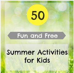 FREE ebook: 50 Fun & FREE Summer Activities for Kids