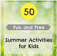 FREE ebook: 50 Fun & FREE Summer Activities for Kids