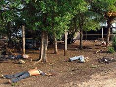 Bodies massacred by Los Zetas in Guatemala.