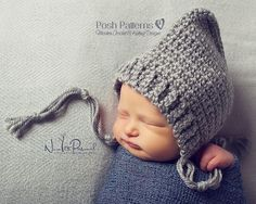 Crochet Hat Pattern Easy & Elegant Pixie Hat Pattern PDF 334 Newborn to Adult Sizes