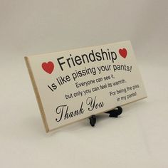 Best Friend Gift Funny Sign Birthday Present By Handmadeskproducts Presents For Friends