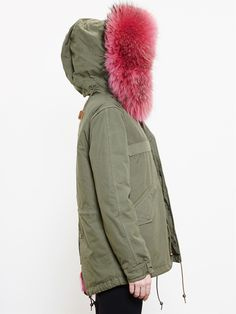 Mr & Mrs Italy Reversible Giovanna Coyote Fur Parka - Browns - Farfetch.com