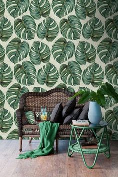 Mind The Gap Wallpaper Collection - Tropical Leaf at Rose & Grey. Buy online now from Rose & Grey, eclectic home accessories and stylish furniture for vintage and modern living. Fern Wallpaper, Tropical Wallpaper, Botanical Wallpaper, Amazing Wallpaper, Print Wallpaper, Wallpaper Decor, Wallpaper Ideas, Nature Wallpaper, Eclectic Design