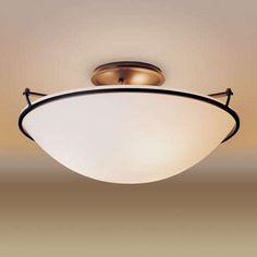 Plain Medium Semi Flush Ceiling Light