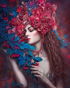 Blue Aesthetic Pastel, Aesthetic Girl, Feminine Photography, Fashion Photography, Steampunk Top Hat, Girls With Flowers, Ethereal Beauty, Fantasy Women, Face Hair