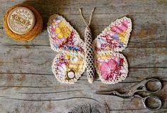 crocheted stone butterfly - so pretty! by Ada123