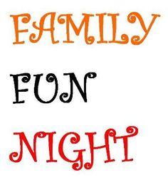 Family Fun Night, This Friday, 6:30-8:30pm