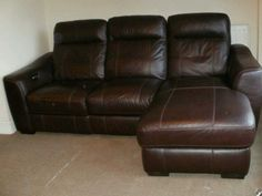 BROWN CHESNUT HIDE ELECTIRC REC 3 STR Lounger (262) £599 in Home, Furniture & DIY | eBay