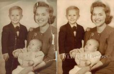 Photo repair and restoration experts. What can we fix for you? http://www.fixingphotos.com #photorestoration #photoretouching #giftideas