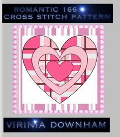 ROMANTIC 166 is a stunning Cross Stitch Pattern. It has a total of 22500 stitches and uses 60 DMC cottons. (You get a comprehensive list of cottons needed with this cross stitch pattern.). For best results use14-count Aida materialanda blunt tapestry needle size 24. Finished project sizes are    14 Count, 10 3/4 inches wide x 10 3/4 inches high    16 Count, 9 1/2 inches wide x 9 1/2 inches high    18 Count, 8 3/8 inches wide x 8 3/8 inches high        The center marks appear on the…