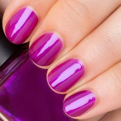 A purple red, metallic opaque. Each RGB shade is a sharp take on a classic with a Straight-forward name to match.