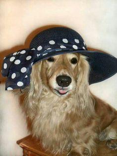 In her Easter bonnet. ..