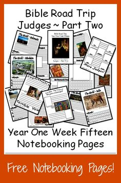 {Free Printable Notebook Pages} Bible Road Trip ~ Year One Week Fifteen