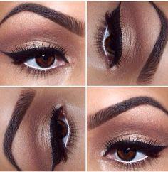Love! eye makeup for brown eyes