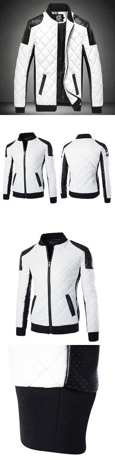 Men Coats And Jackets: Mens Fashion Slim Fit Motorcycle Pu Leather Jacket Winter Warm Coat Bomber Hot BUY IT NOW ONLY: $31.34