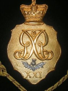Officer's Belgic Shako Plate- 21st (Royal North British Fusiliers) Regiment of Foot- 1st Battalion on the American coast from August 1814 to March 1815. Main engagements: Bladensburg, Washington, Goodley Woods, New Orleans, Fort Bowyer.