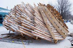 michel rojkind arquitectos warming huts the hybrid hut the forks winnipeg designboom