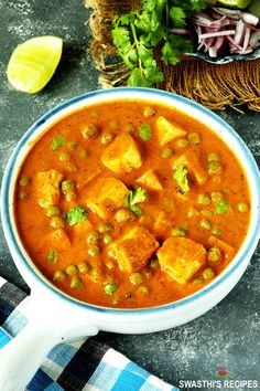 Matar paneer is a delicious dish made by cooking paneer & green peas in spicy onion tomato masala. This recipe will give you restaurant style creamy & rich matar paneer. It tastes amazing Indian Paneer Recipes, Indian Food Recipes, Real Food Recipes, Vegetarian Recipes, Cooking Recipes, Meal Recipes, Cheese Recipes, Ash Recipe, Indian Cheese