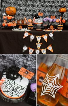 Spooky Cute Halloween Party Ideas in Black and Orange!