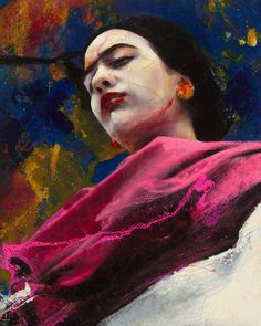 Frida Strong woman; mixed media on canvas; 250x200 cm