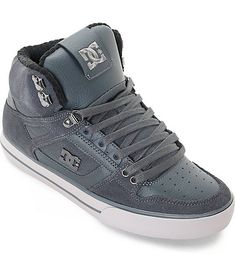 premium selection ab969 e1d29 DC Spartan High SE Grey Skate Shoes