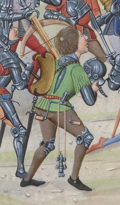Balestra con verricello; Chroniques sire JEHAN FROISSART, 15th c., BnF Français 2644, folio 265r