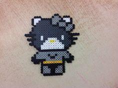 Batman Hello Kitty perler beads by Amanda Collison