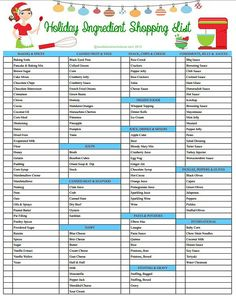 Make your holiday shopping easier with this Holiday Ingredient Shopping List!  sewlicioushomedecor.com