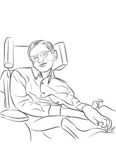Stephen Hawking Colouring Pages In 2019 Stephen Hawking