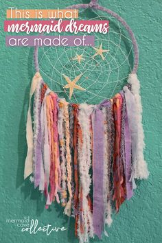 Mermaid Dream Catcher by Jade's Sea at Mermaid Cove Collective. Let the sea wash over your dreams. Mermaid Purse, Mermaid Jewelry, Mermaid Crafts, Mermaid Diy, Mermaid Style, Arts And Crafts House, Arts And Crafts Supplies, Mermaid Cove, Mermaid Tails