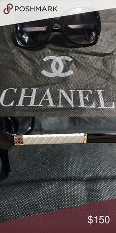 d545e9b0b7a0 Shop Women s chanel style Black White size 59 17 131 Sunglasses at a  discounted price at Poshmark.