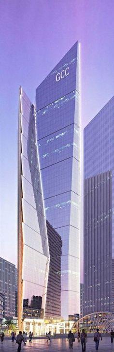 GCC Bank Headquarters, King Abdullah Financial District KAFD, Parcel 1.14, Riyadh, Saudi Arabia by Gensler Architects :: 53 floors, height 240m :: under construction