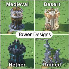 Casa Medieval Minecraft, Minecraft Mansion, Minecraft Cottage, Minecraft Castle, Cute Minecraft Houses, Minecraft Plans, Amazing Minecraft, Minecraft Blueprints, Minecraft Crafts