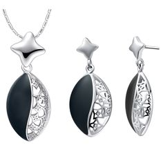 Find More Jewelry Sets Information about New Romantic Sets For Princess 925 Sterling Silver Korean Style Black Enamel Necklaces & Earrings Anniversary Gift Ulove T463,High Quality set patch,China set clone Suppliers, Cheap set top box satellite from Ulovestore Fashion Jewelry on Aliexpress.com