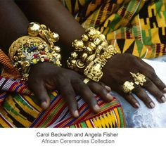 Africa | The gold jewellery worn by the Ashanti royal guests, at the jubilee, is not only visually impressive but also bears powerful symbolic meaning.  Ghana. | ©Carol Beckwith and Angela Fisher