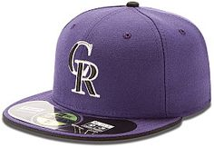 af59c61e726 NEW ERA Men s Colorado Rockies Authentic Collection Alternate 2 59FIFTY  Fitted Cap New Era 59fifty
