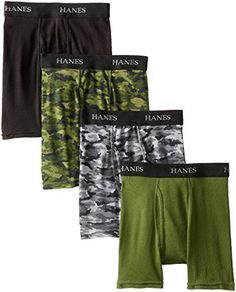 Hanes Boys' 4 Pack Ultimate Comfort-Flex Printed Boxer Brief * Check out this great image @