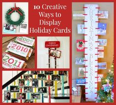 holiday-card-display ideas  how to display you holiday cards
