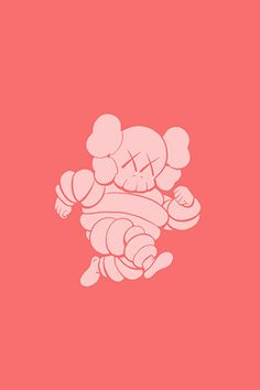 kaws+iphone+x+michelin+man+-+Android+Wallpapers+HD