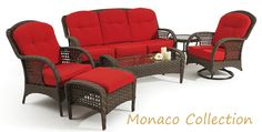 The Monaco #patio collection has timeless beauty that is excellent for outdoor relaxation this spring.