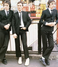 The Jam: Rick Buckler, Bruce Foxton and Paul Weller Blue Soul, Classic Rock Artists, The Style Council, Paul Weller, The Jam Band, 70s Music, Northern Soul, Skinhead, Mod Fashion